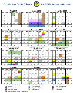 Fcps Calendar 2019.2018 2019 Franklin City Public Schools Calendar Franklin High